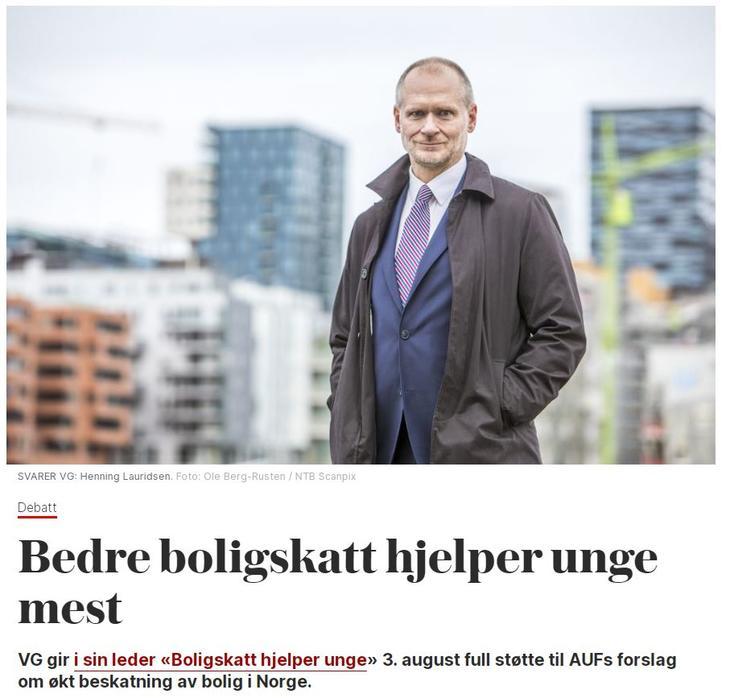 Faksimile fra VG. Skjermdump fra vg.no