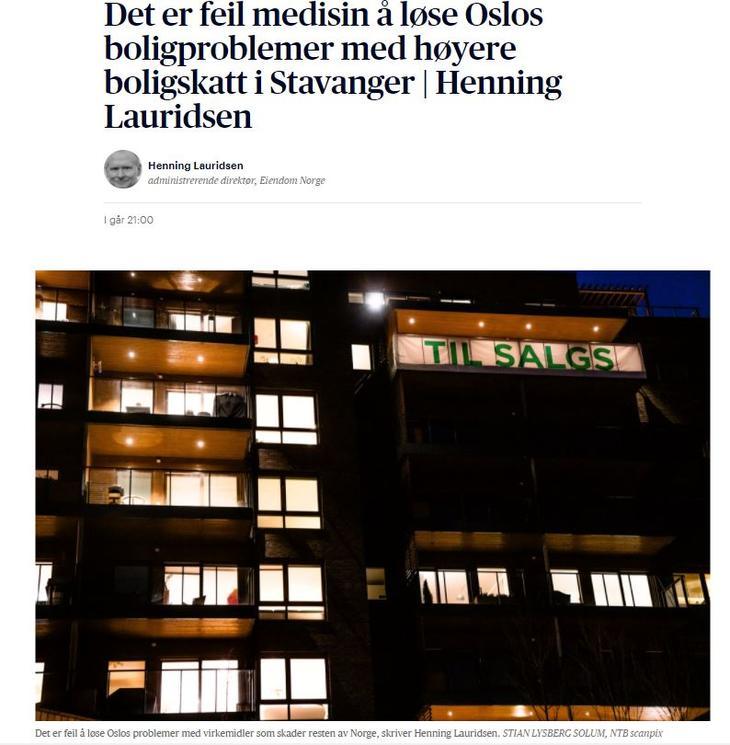 Faksimile Aftenposten.no.