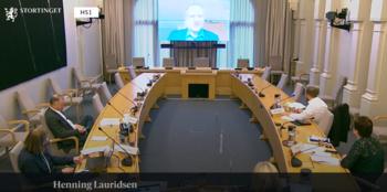 Skjermdump: Stortinget