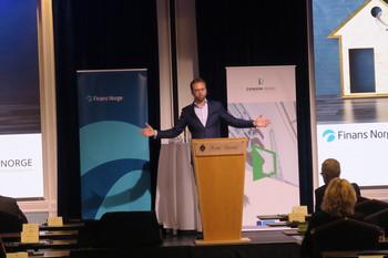Boligminister Nikolai Astrup (H) under 2020-utgaven av konferansen. Foto: Peder Tollersrud.