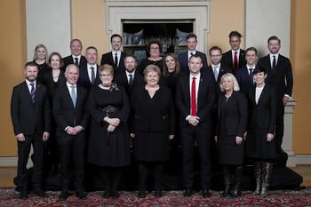 Norges regjering 24. januar 2020. Foto: Statsministerens kontor.