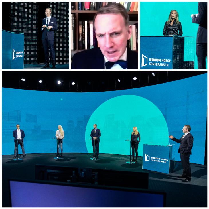 Screenshots fra Eiendom Norge konferansen 2021.