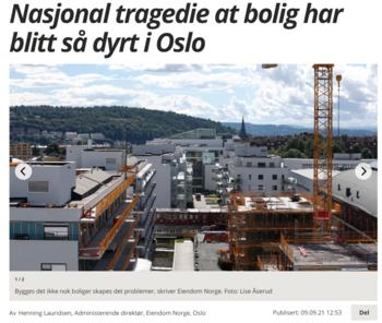 Faksimile Avisa Oslo 9. september 2021.