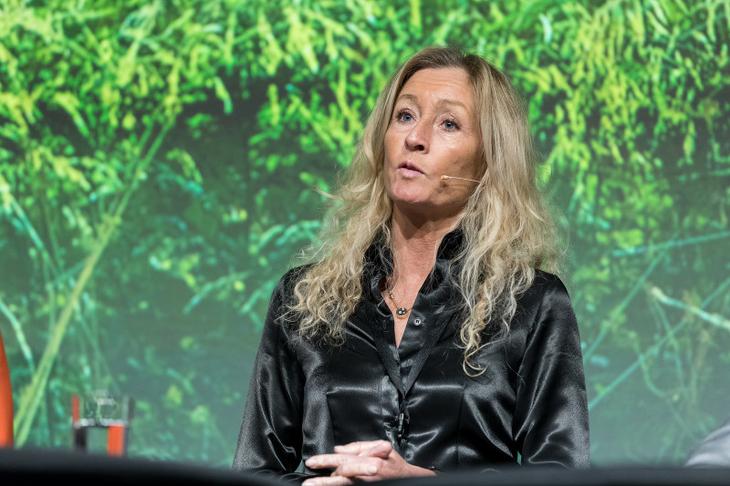 Styreleder Grethe W. Meier på Eiendom Norge konferansen 2018 den 15. mars . Foto: Eiendom Norge.
