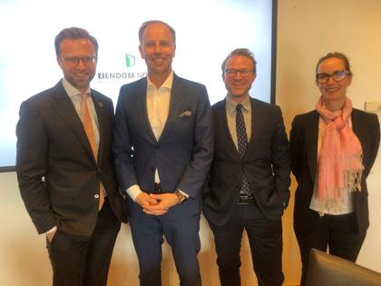 Mandag 13. mai møtte Eiendom Norge digitaliseringsminister Nikolai Astrup (H) for å diskutere digital boligpolitikk.
