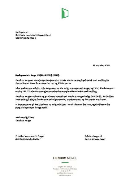 Høringsnotat kommunal og forvaltningskomiteen