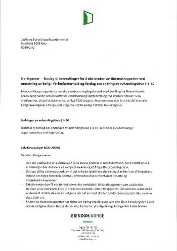 Høringssvar Takstlovutvalget