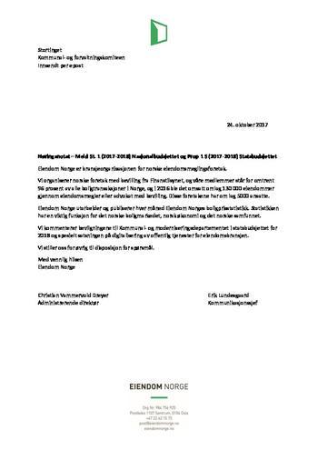 Høringsuttalelse kommunal- og forvaltningskomiteen