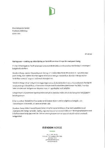 Høringssvar- Boliglånsforskriften