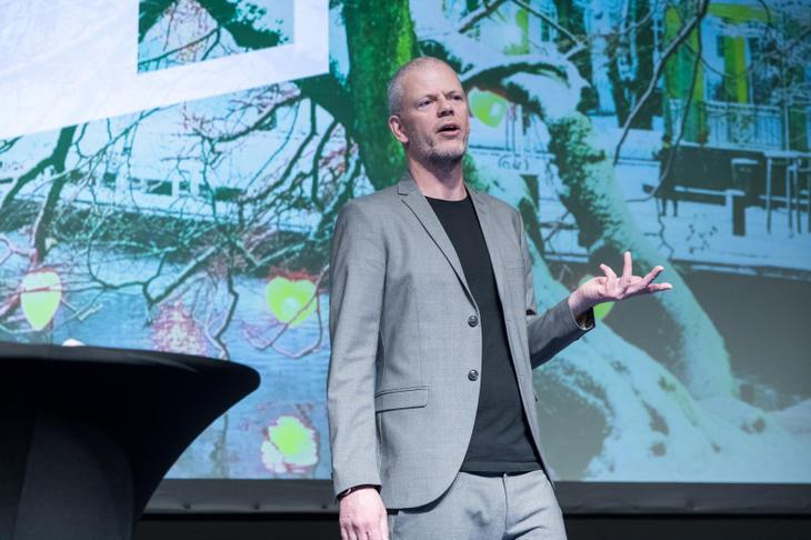 Are Kalvø på Eiendom Norge konferansen 2018. Foto: Johnny Vaet Nordskog.