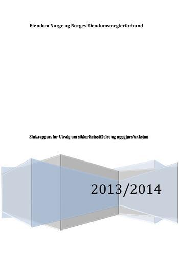 Rapport oppgjørsutvalget juni 2014