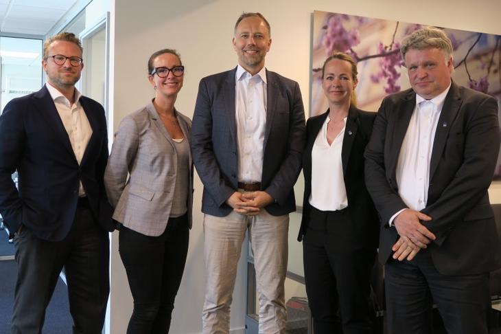 Fra venstre: Erik Lundesgaard, Hanne Nordskog-Inger, Christian V. Dreyer, Lena Drønnesund og Johan A. Mettevoll