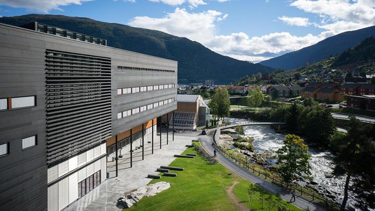 Høgskulen på Vestlandet, Campus Sogndal. Foto: Falkeblikk