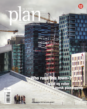 vOmslaget av Tidskriftet PLAN, nr. 3, 2013.