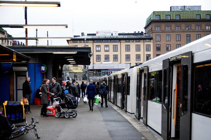 Majorstuen T-bane stasjon i Oslo. Foto: Sjur Stølen/Aktiv i Oslo.