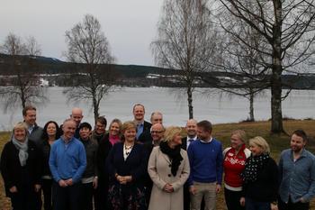 Fra Regjeringens budsjettkonferanse i Hurdal 11. mars 2014. Foto: Statsministerens kontor.