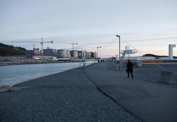 Boligbygging i Bjørvika. Foto: Solfrid Sande