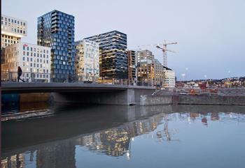 Byutvikling i Bjørvika i Oslo.