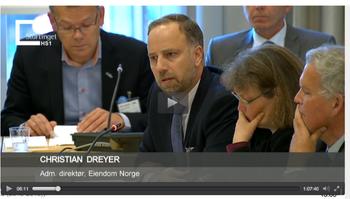 Christian Dreyer på Stortinget