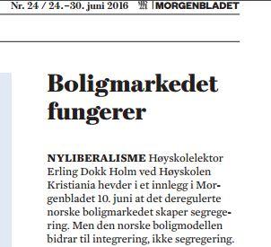 Faksimile: Morgenbladet 24 juni 2016.