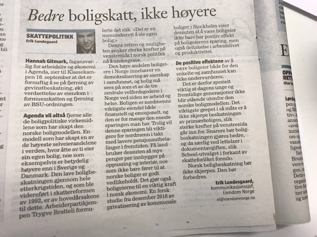 Faksimile Klassekampen 26.09.2017