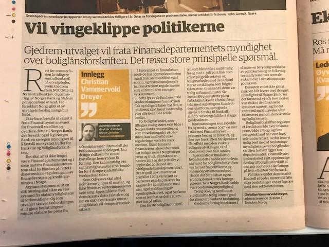 Faksimile, Dagens Næringsliv 02.10.2017