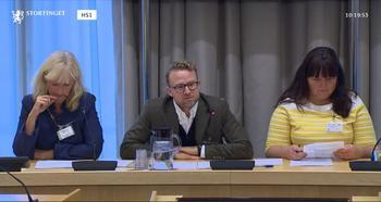 Skjermdump: Stortingets nett-tv