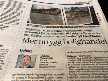 Faksimile Aftenposten 5. september 2018.