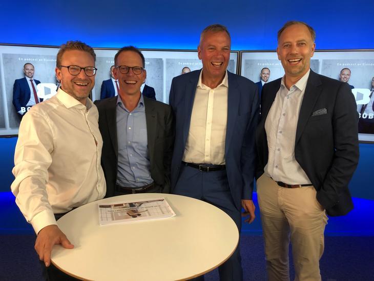 Fra venstre: Erik Lundesgaard, Mikkel Røisland, Rolf Thorsen og Christian Vammervold Dreyer.