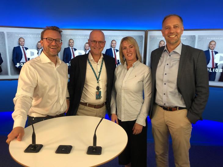 Fra venstre: Erik Lundesgaard, Terje Burås, Mari Mamre og Christian Vammervold Dreyer.