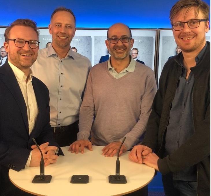 Fra venstre: Erik Lundesgaard, Christian Vammervold Dreyer, Jacques Miniane og André Anundsen.