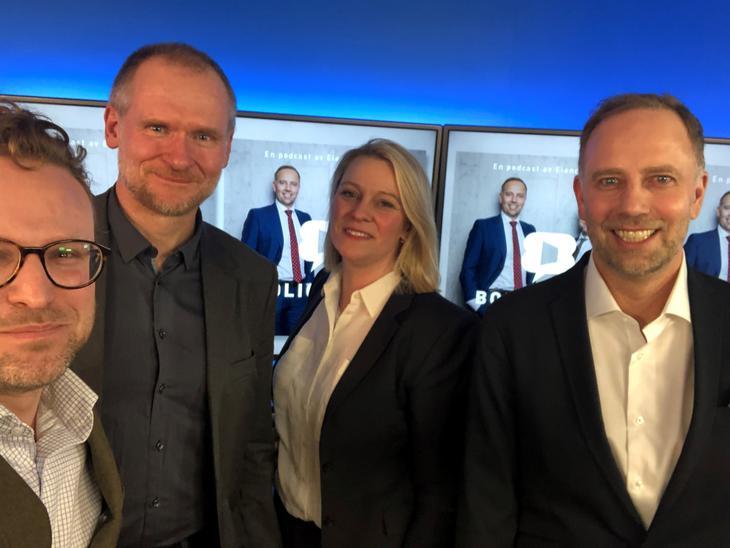 Fra venstre: Erik Lundesgaard, Henning Lauridsen, Silje N. Andresen og Christian Vammervold Dreyer.
