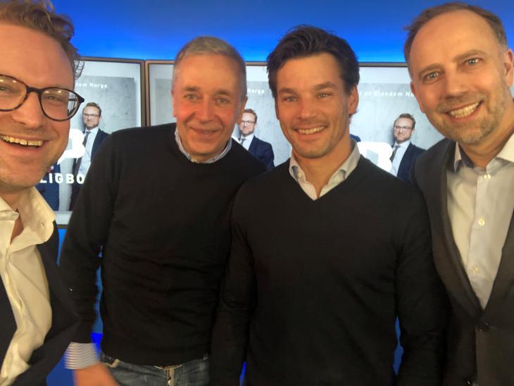 Fra venstre: Erik Lundesgaard, Bjørn Erik Øye, Anders Buchardt og Christian Vammervold Dreyer.