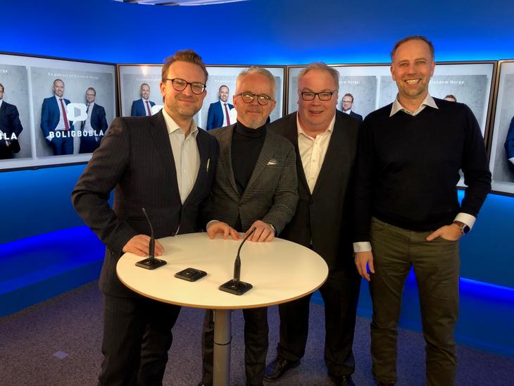 Fra venstre: Erik Lundesgaard, Gunnar Bøyum, Bård Folke Fredriksen og Christian Vammervold Dreyer.