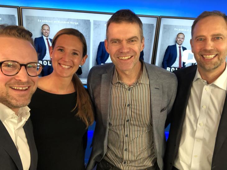 Fra venstre: Erik Lundesgaard, Jeanette Strøm Fjære, Erling Røed Larsen og Christian Vammervold Dreyer.
