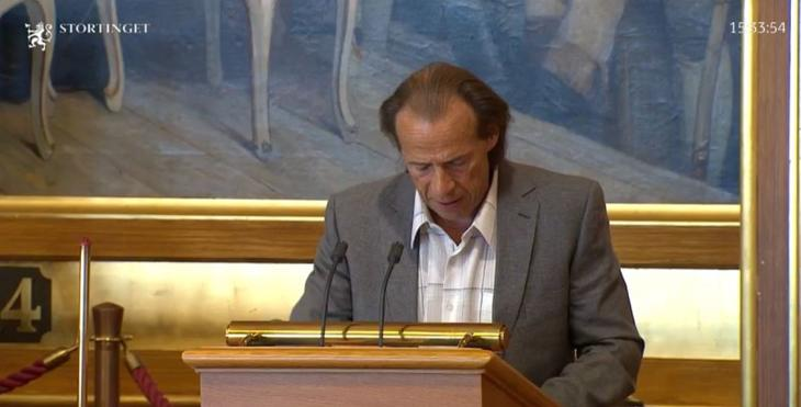 Møteleder Jan Bøhler under stortingshøringen, mandag. Skjermdump stortinget.no