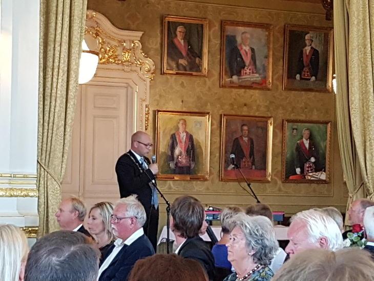 President Ottar M. Skare i Norges Takseringsforbund taler på landsmøtet mai 2017
