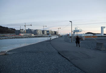 Boligbygging i Bjørvika i Oslo. Foto: Solfrid Sande.