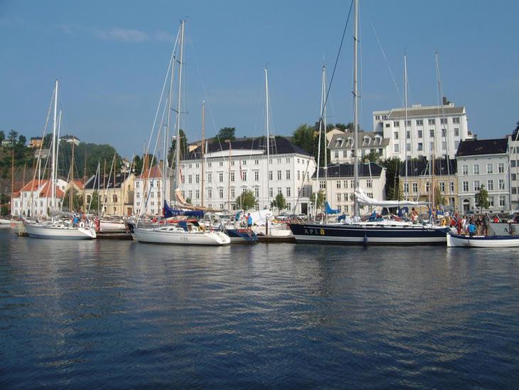 Arendal sentrum på Sørlandet. Foto: Arendal Tourist Office.
