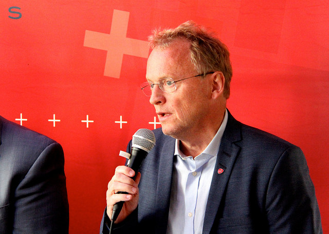 Byrådsleder i Oslo Raymond Johansen (Ap). på Arendalsuka 2016. Foto: Scott Allan (Gambit).