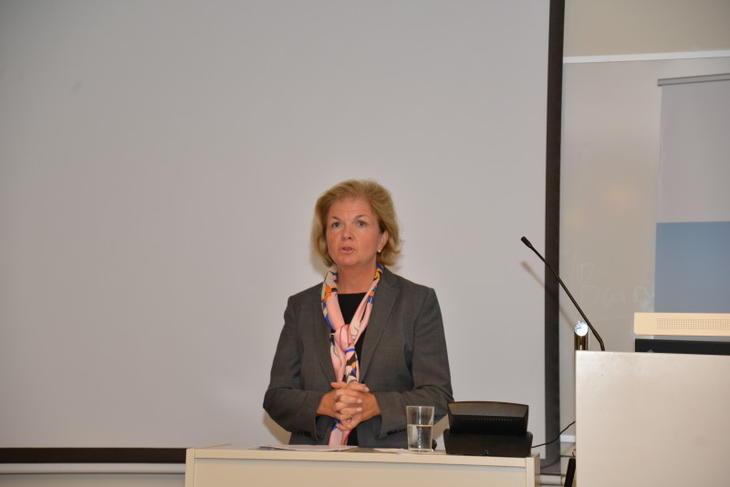 Direktør Anne Merethe Bellamy Finanstilsynet. Foto: Svein Strømnes, NEF