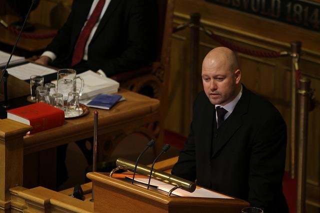 Justisminister Anders Anundsen i Stortinget. Foto: Reynir Johannesson/Fremskrittspartiet.