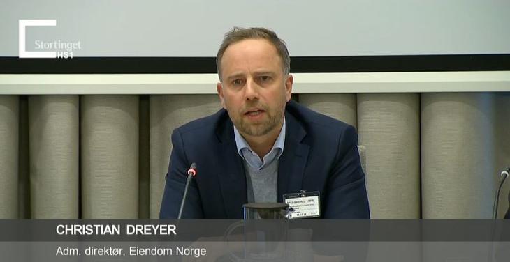 Administrerende direktør, Christian Vammervold Dreyer, på høring om skattereformen i regi av Stortingets finanskomité den 15. desember 2015.