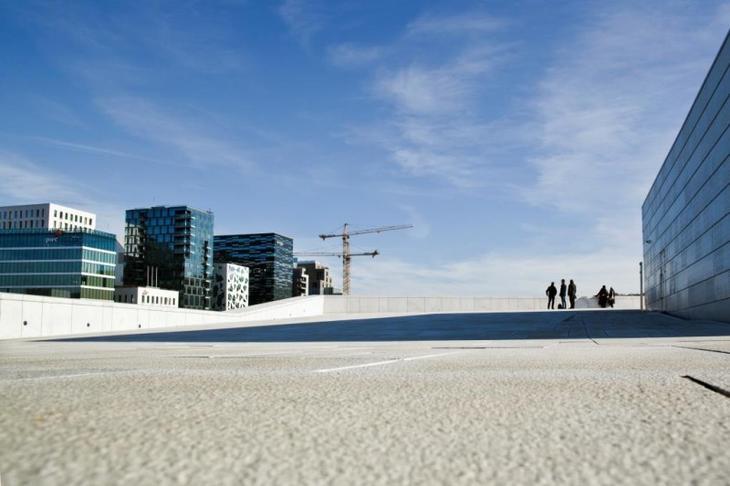 Fra Bjørvika i Oslo. Foto: Solfrid Sande.