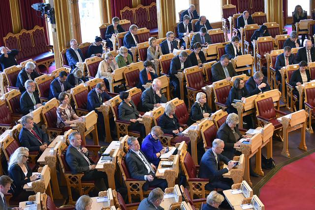 Stortingsmøte. Foto: Gjermund Nordtug/Stortinget.